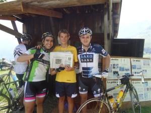 Lucas Couto encontra por acaso o 12º colocado do Le Etape du Tour