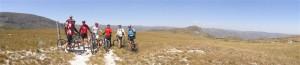 Panorâmica do primeiro dia de pedal. Rumo ao Travessão