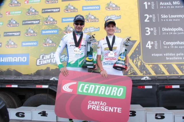 Os cameões de 2012. Rubens Donizete Valeriano e Erika Gramicelli. Foto: Bruno Fernandes