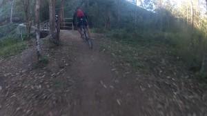 Ponte de madeira no Vale do Matutu