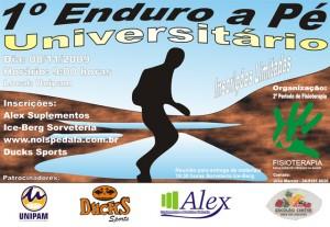 Cartaz Primeiro Enduro a Pé Universitário
