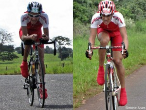"""Atletas patenses: André Carlos """"Leréia"""" (Edvon Motos) e Pedro Henrique (Edvon Motos). Fotos: Simone Alves"""