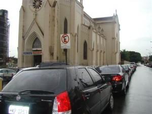 Ciclovia defronte à Igreja Matriz de Santo Antônio