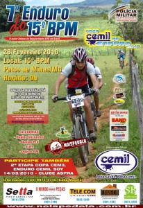 Cartaz do 7º Enduro do 15º BPM