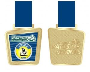 Medalha para os primeiros 5 colocados em cada categoria