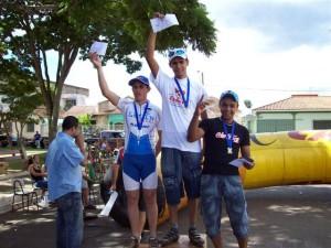 André Carlos Leréia em primeiro e Douglas Cobadera em terceiro