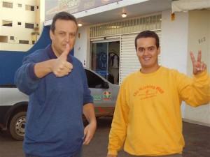Euler Caixeiro Viajante e Bruno Fernandes minutos antes de embarcar