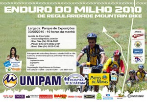 Cartaz oficial do Enduro do Milho 2010