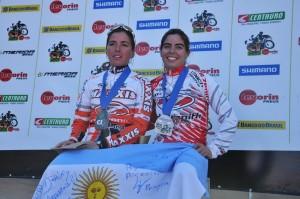 Dobradinha argentina no pódio da Elite Feminina Crédito: Marcelo Andrê - Y. Sports