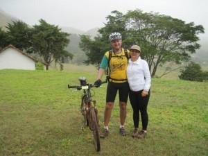 Sérgio Zaggo e sua esposa Elenice participando do BikeLuz 2010'