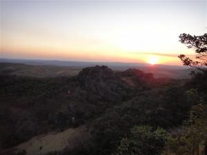 Um dos pores-do-sol que presenciamos