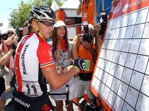 Lance Armstrong faz sua última prova no circuito internacional Foto: Getty Images