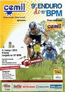 Cartaz oficial da nona edição do Enduro do 15o BPM