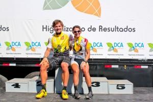 Os campeões Lukas Kauffman e Isabella Lacerda