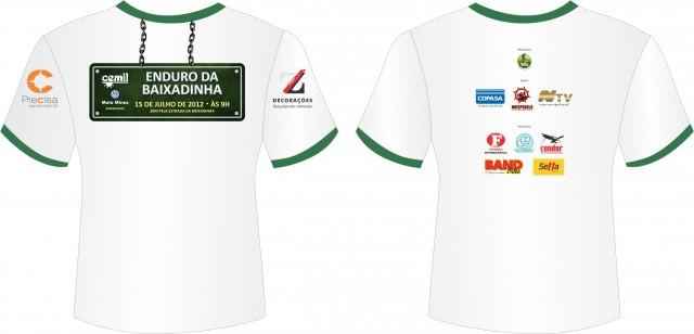 Camisetas oficial do evento para os 40 primeiros participantes que confirmarem a inscrição