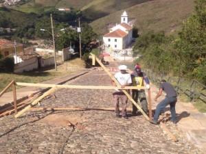 Montagem da primeira rampa após da largada. Foto: Rogério Bernardes